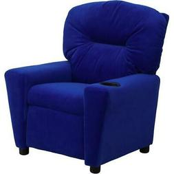 Flash Furniture Kids' Microfiber Recliner with Cup Holder, M
