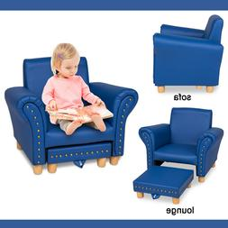 Kids Sofa Armchair Couch w/ Ottoman Room Furniture Decor for