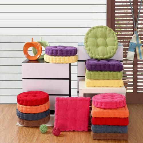"""3"""" Thick Chair Cushion Pads Seat Round/Square Patio Mat"""