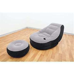 Intex Ultra Inflatable with Holder Gray