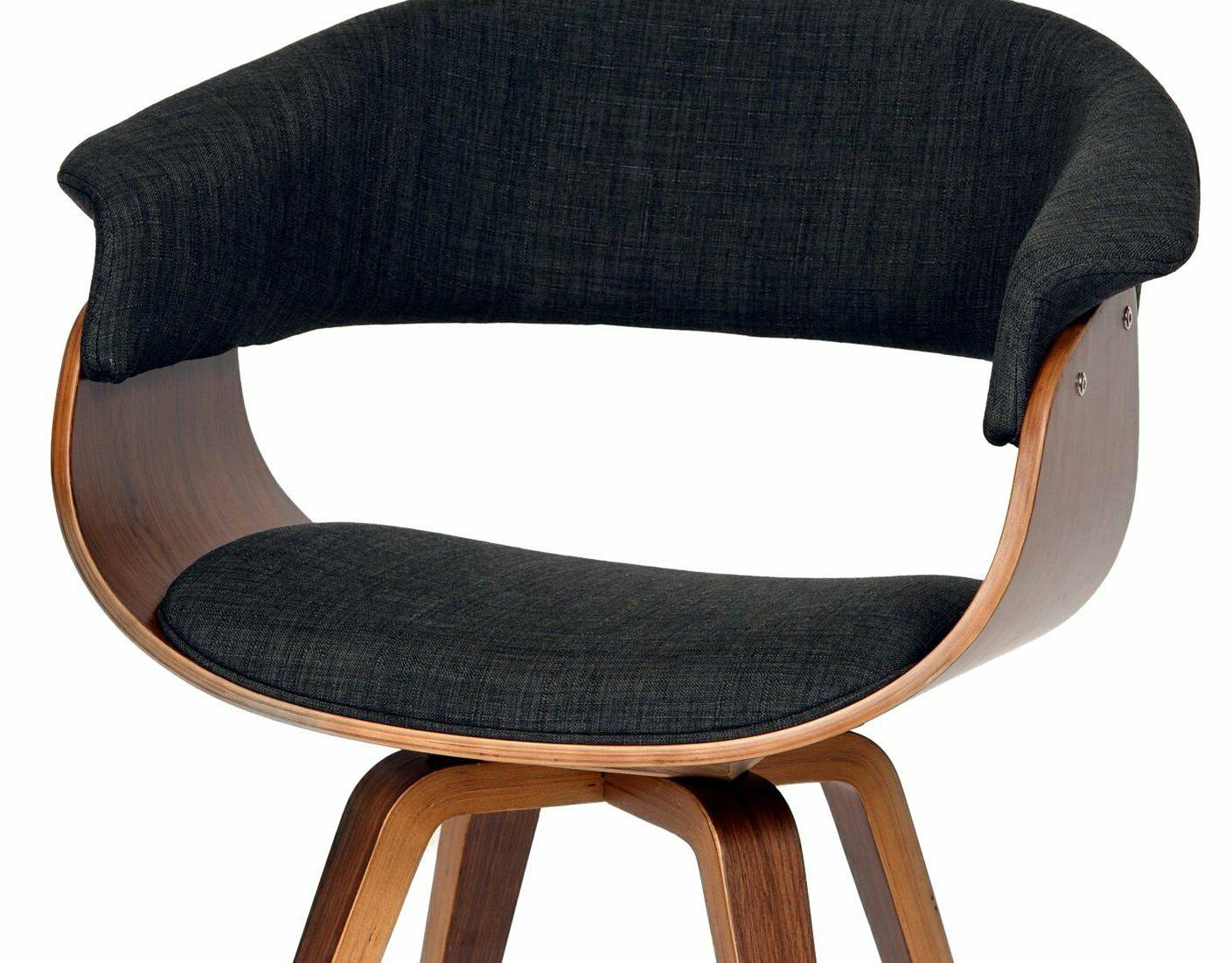 Armen Living Summer Chair in Charcoal and Walnut Finish