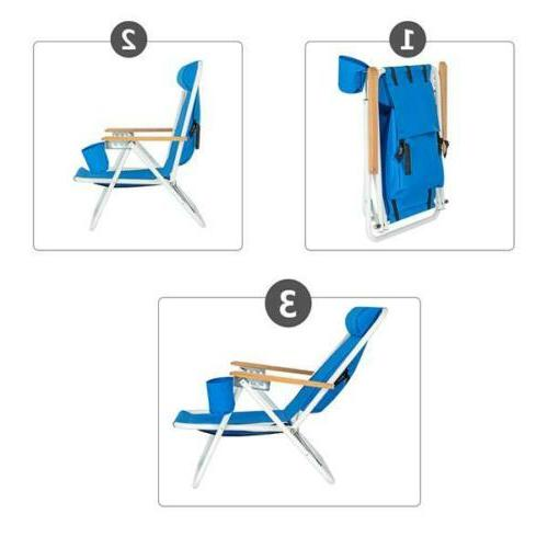 Backpack Chair Portable Folding Seat Solid Camping