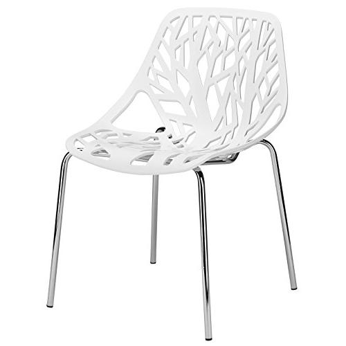 Poly and Bark Birds Nest Dining Side Chair, White, Set of 2