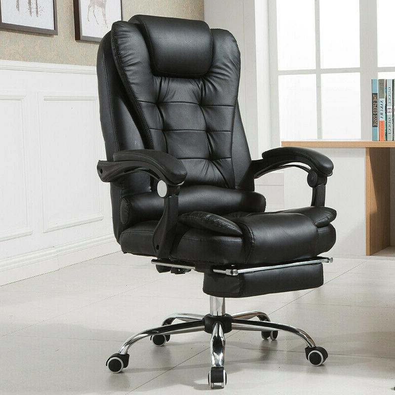 black gaming chair high back computer recliner