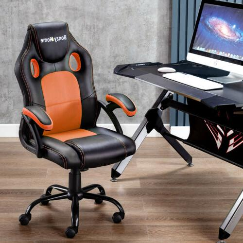 ERGONOMIC GAMING RACING COMPUTER SWIVEL OFFICE EXECUTIVE PU LEATHER