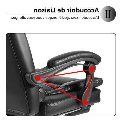Executive Gaming Leather Recliner Footrest