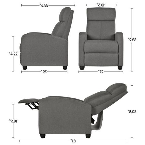 Fabric Recliner Modern Seating Room