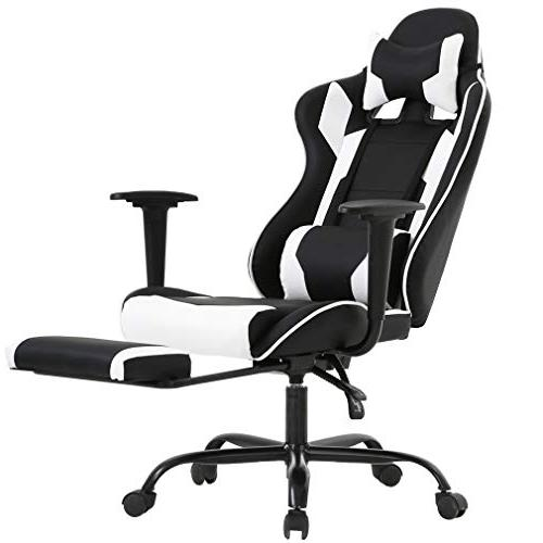 BestOffice Office Chair Chair Ergonomic Swivel High with Footrest Lumbar Support and