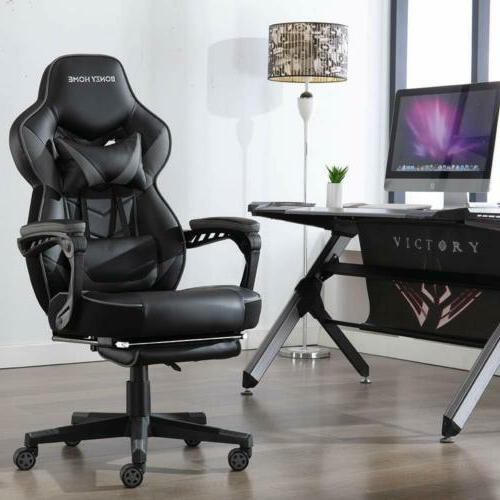GAMING CHAIR LEATHER BACK OFFICE SWIVEL SEAT