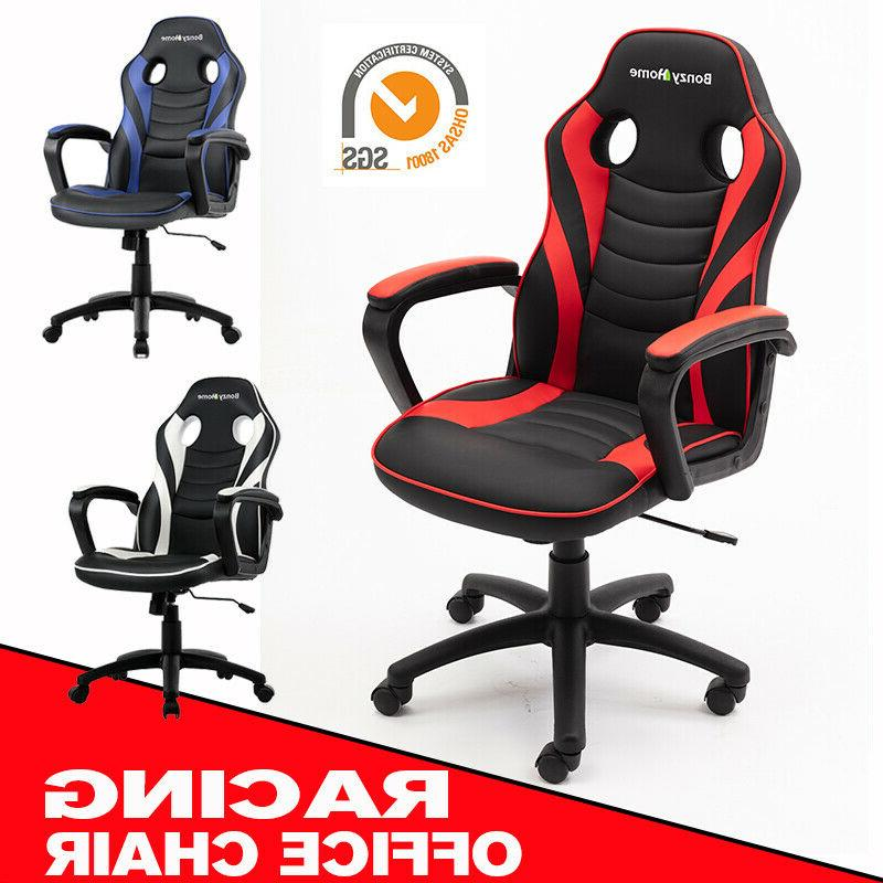GAMING CHAIR RACING STYLE PU LEATHER OFFICE EXECUTIVE COMPUT