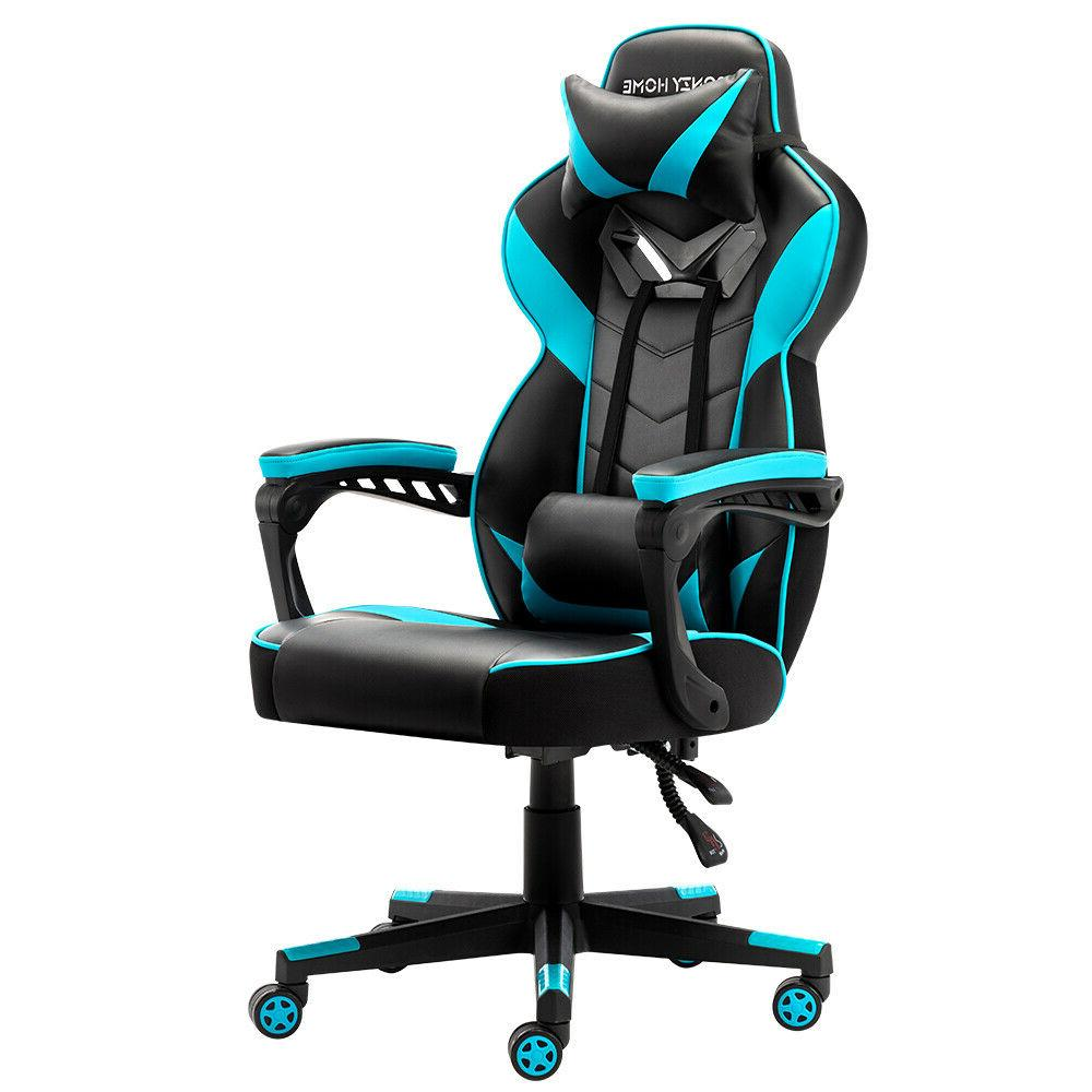 Gaming Leather Office Recliner Desk High-Back