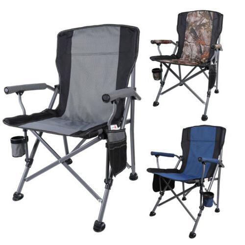 heavy duty folding camping chairs cup holder