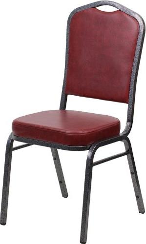 HERCULES Series Crown Back Stacking Banquet Chair with Burgu