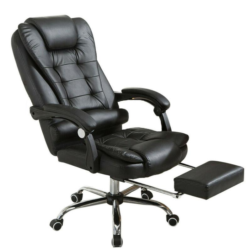 Black Gaming Chair Back Computer Recliner Office PC Desk