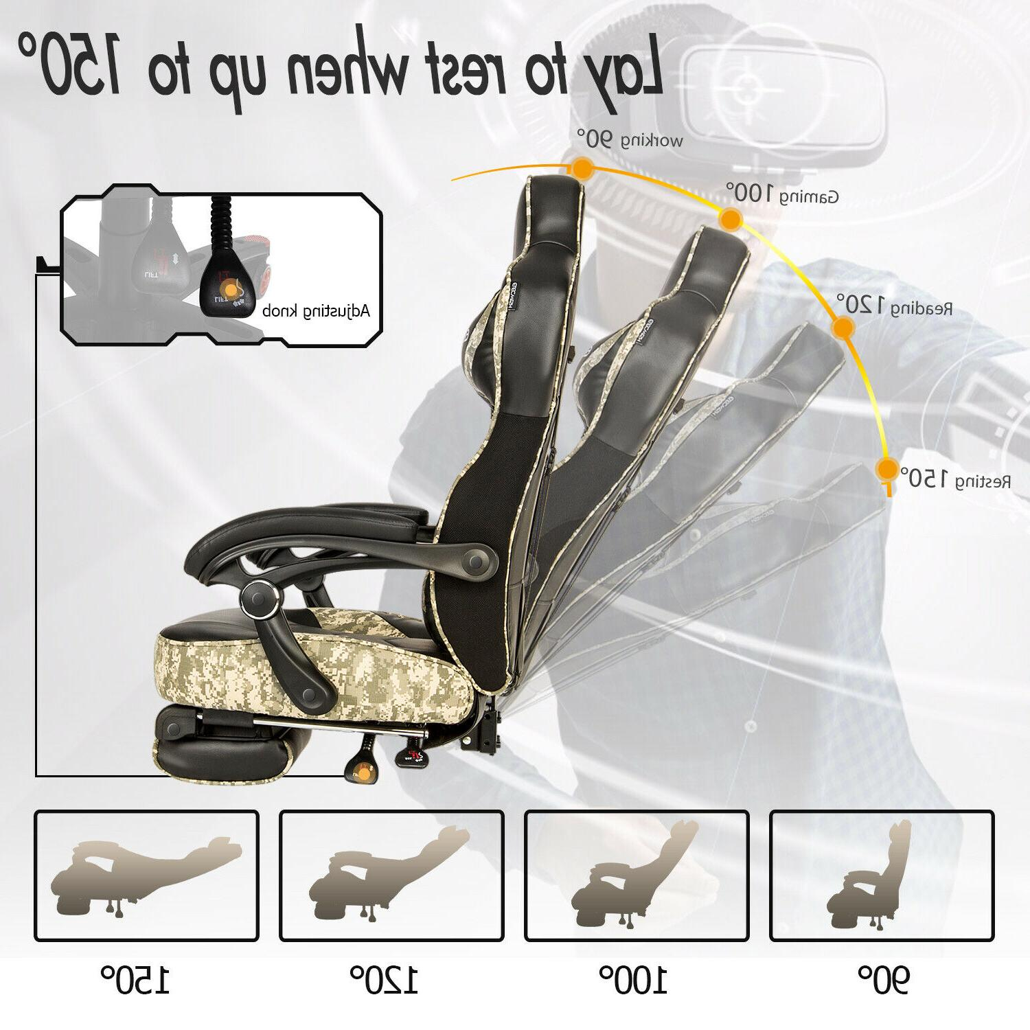 Massage Gaming Chair Seat Recliner