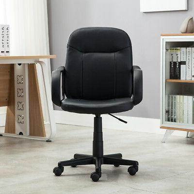 New Office Executive Chair PU Leather Desk Black