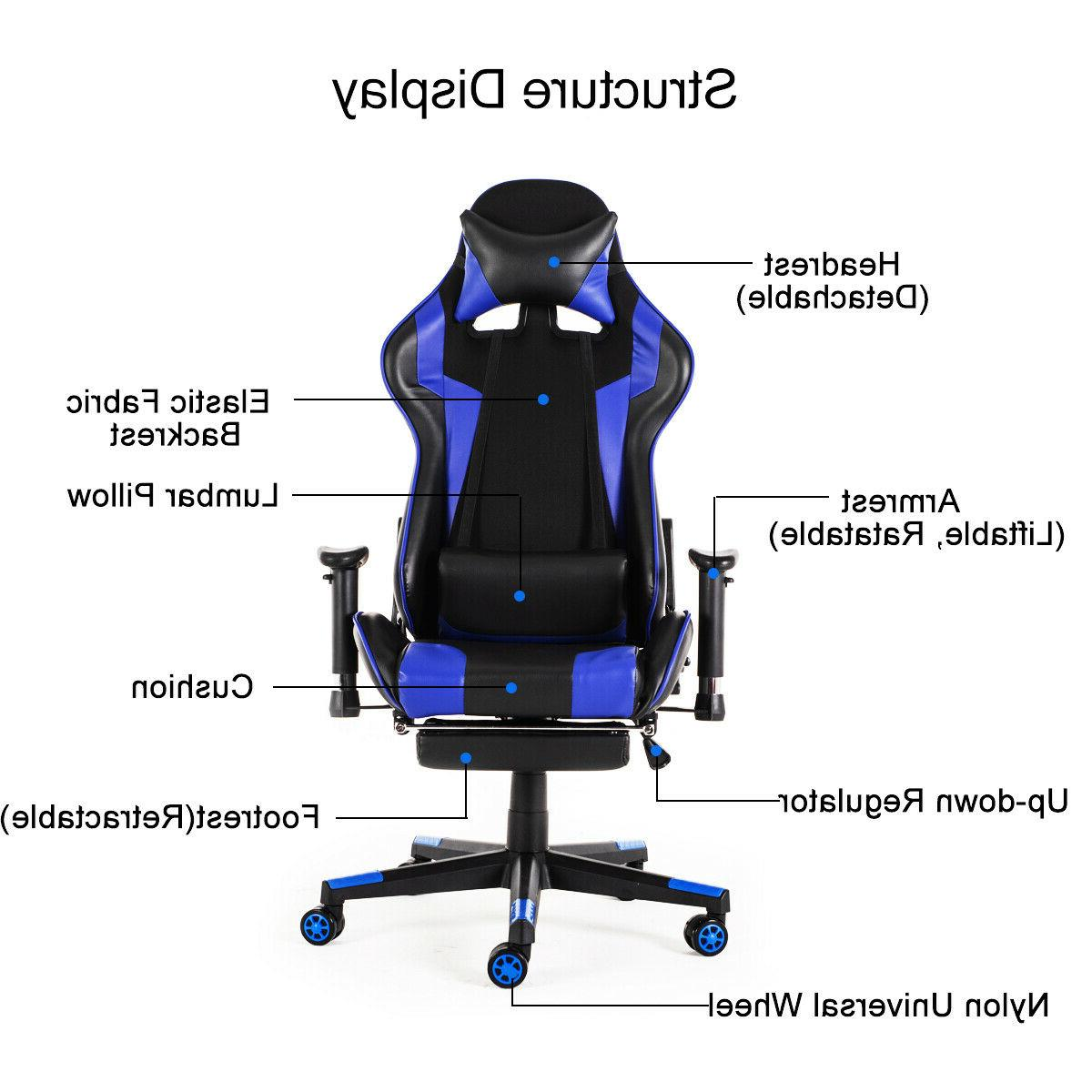 Gaming Style 180° Seat Chair
