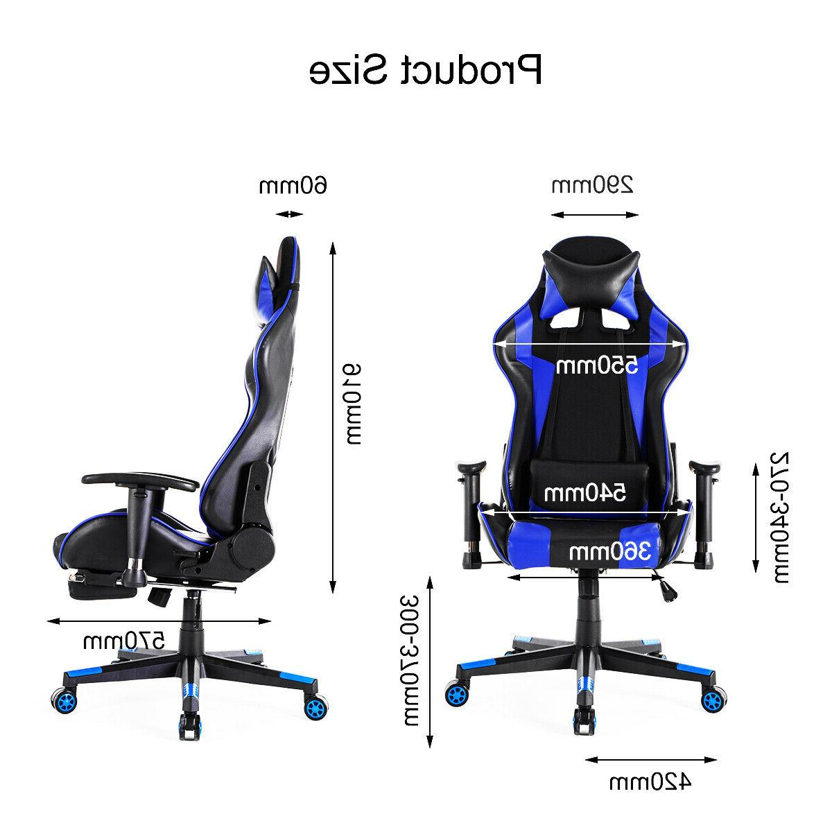 Gaming Chair Style 180° Computer Seat Swivel Chair