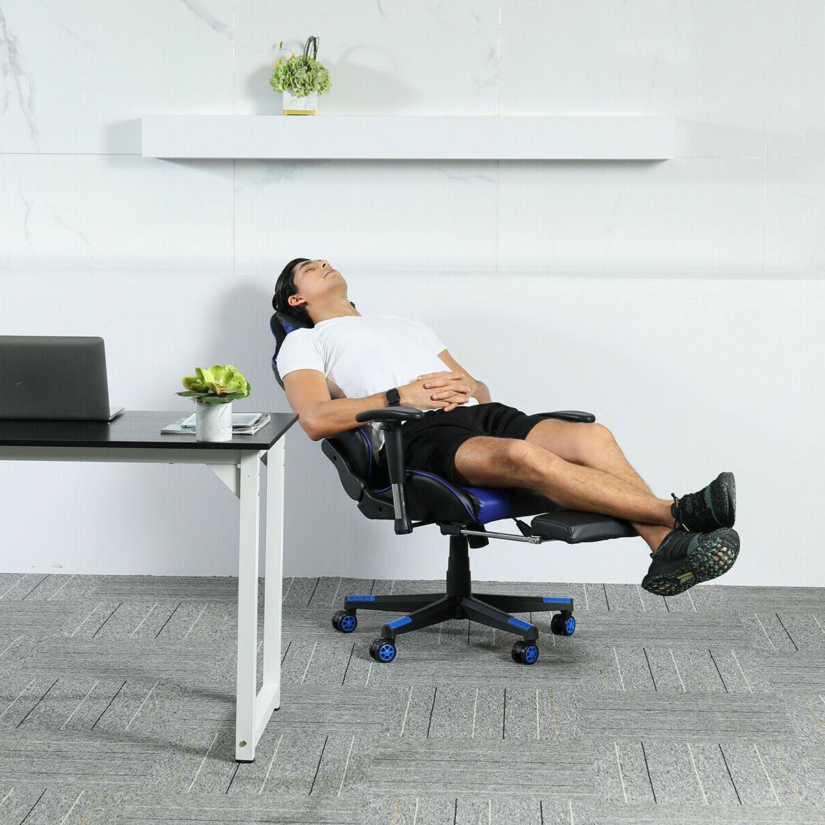 Gaming Office Style 180° Seat Swivel Desk