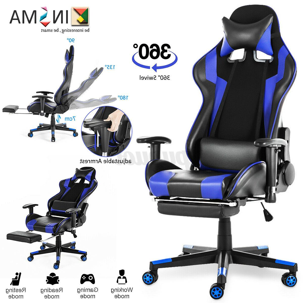 office computer gaming chair 180 lying recliner