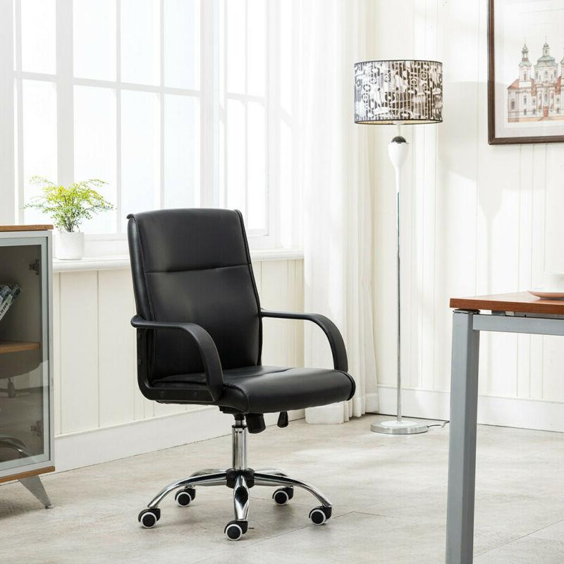 High Back Leather Executive Office Swivel Desk Computer