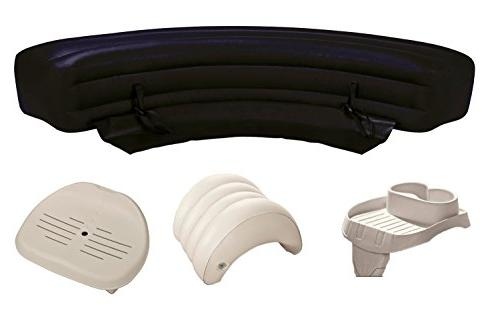 Intex PureSpa Accessories Package - Headrest, Bench, Seat, a