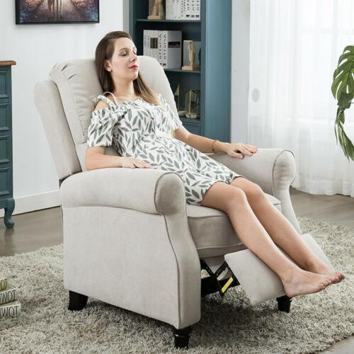 Recliner Chair Manual back Sofa Padded Seat with