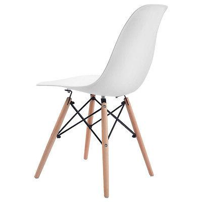 COSTWAY Set of Mid Modern Dining Side Chair Legs White