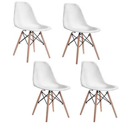 COSTWAY Mid Dining Side Legs White