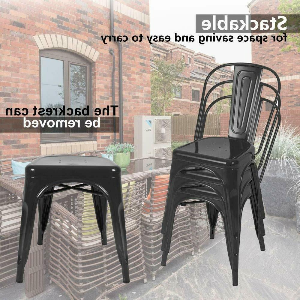 Set of 4 Stunning Metal Dining Dining Room Home Furniture