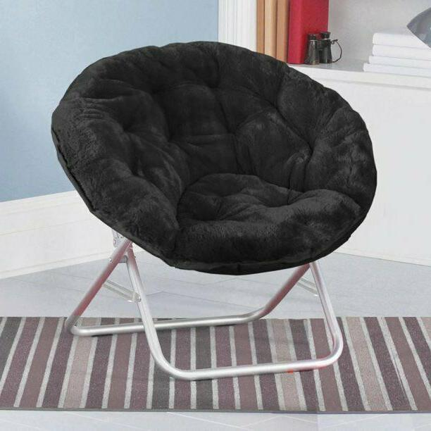 NEW! Cozy Chair, Faux Fur Saucer Chair, Kids & Adults, Multi