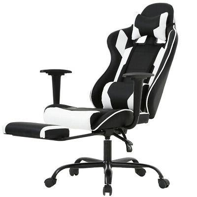 white gaming chair back computer