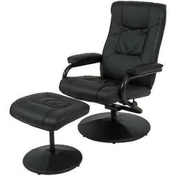 Best Choice Products Leather Swivel Recliner Chair w/ Padded