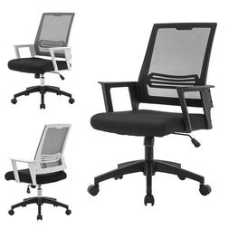 Mesh Office Chair Swivel Mid Back Computer Adjustable Ergono