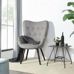 Mid-Centry Modern Armchair Living Room Accent Chair Fabric S
