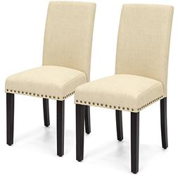 Best Choice Products Set of 2 Upholstered High Back Padded A