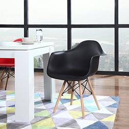 Modern Set of 2 EAMES Style Armchair Natural Wood Legs in Co