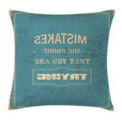 Ambesonne Motivational Throw Pillow Cushion Cover, Vintage P