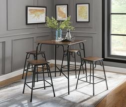 Nesting Table and Chair Set Square Sturdy Dinette Industrial