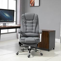 Vinsetto Office Chair with Retractable Footrest Height Adjus