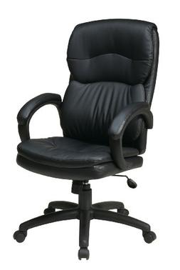 Office Star High Back Thick Padded Contour Seat and Back wit