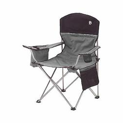 Coleman Oversized Black Camping Lawn Chairs + Cooler, 2-Pack