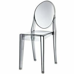 Philippe Starck Style Victoria Ghost Chair in Smoked Clear