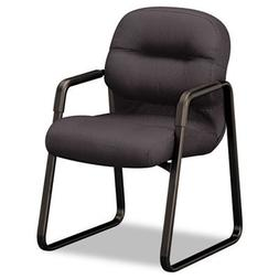 HON Pillow-Soft Guest Chair with Fixed Arms, Black