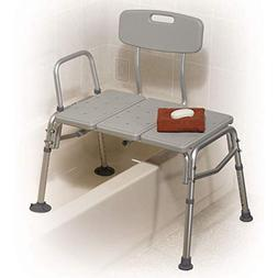 Drive Medical Plastic Tub Transfer Bench with Adjustable Bac