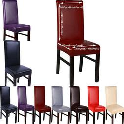 PU Leather Chair Cover For Kitchen Dining Bar Hotel Slipcove