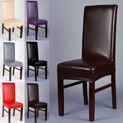 PU Leather Chair Covers Wedding Dining Chair Cover Home Slip