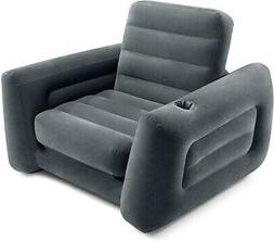 """Intex Pull-Out Chair Inflatable Bed, 46"""" X 88"""" X 26"""", Twin,"""