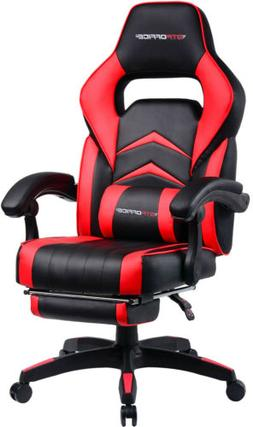 Racing Style Computer Gaming Chair with Lumbar Massage Suppo