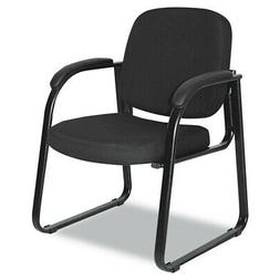 Reception Lounge Series Sled Base Guest Chair  Black Fabric